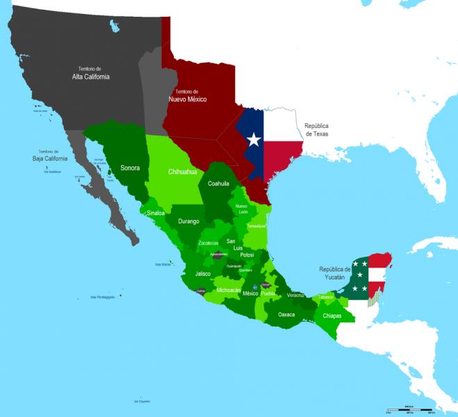 Mapa-Mexiko-1842